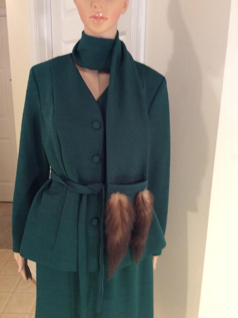Vintage green skirt set size large