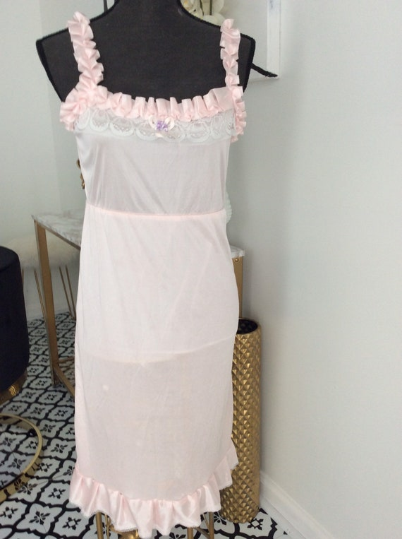 Vintage pink nightgown slip dress