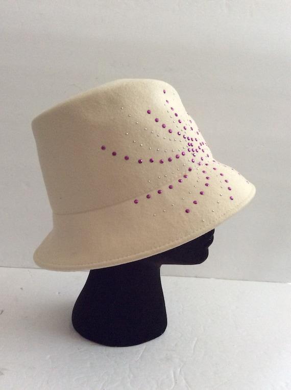 Betmar New York cream wool hat
