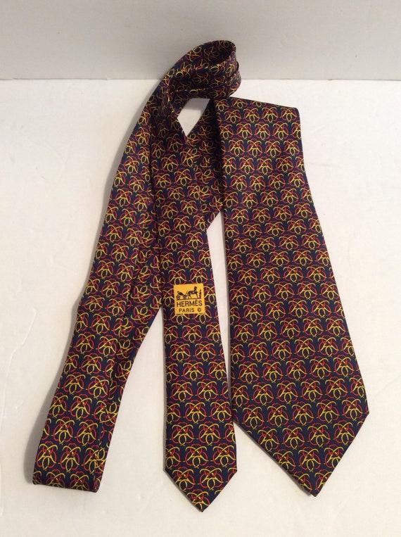 negozio di sconto vari colori ultimo stile del 2019 Vintage cravatta Hermes