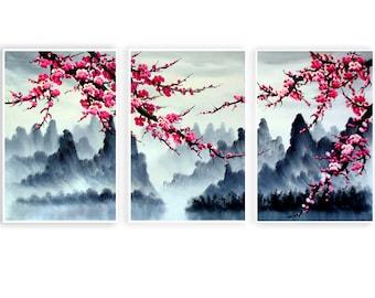 Cherry Blossom Japan Pretty Canvas Wall Art Picture Print Beautiful Home Decor