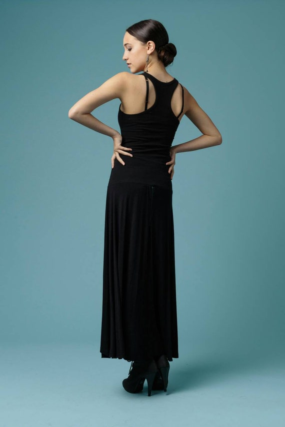 Black Stretch Racer Back Dress