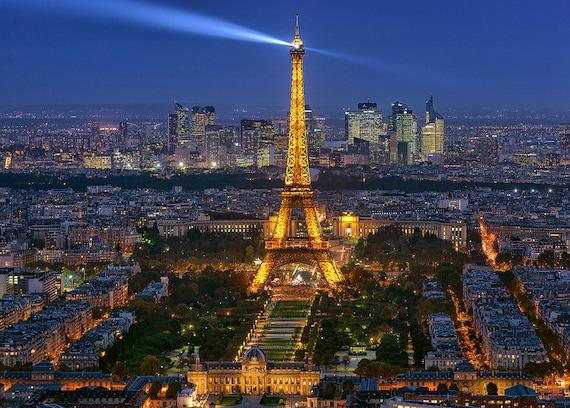 Photographie de la tour eiffel impression de paris ville etsy - Image tour eiffel a imprimer ...