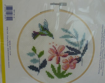 kit with hoop DMC J H Dearle victoria and albert museum BK1175 MYRTLE Counted Cross Stitch Kit