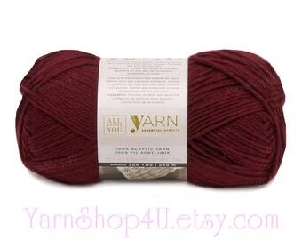 burgundy yarn etsy