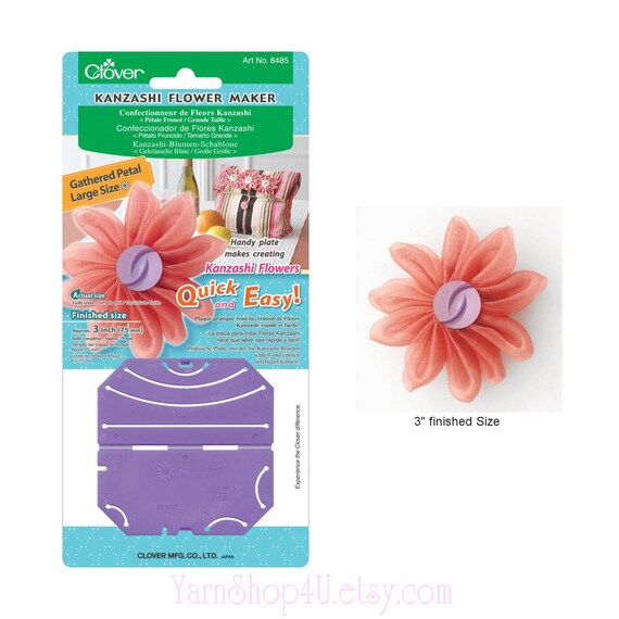"""GATHERED PETAL LARGE 3"""" #8485 by CLOVER KANZASHI FLOWER MAKER APPROX"""