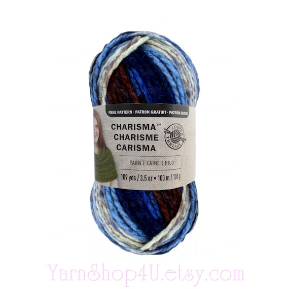LAKESIDE Bulky Charisma Loops and Threads Yarn. This Blue | Etsy