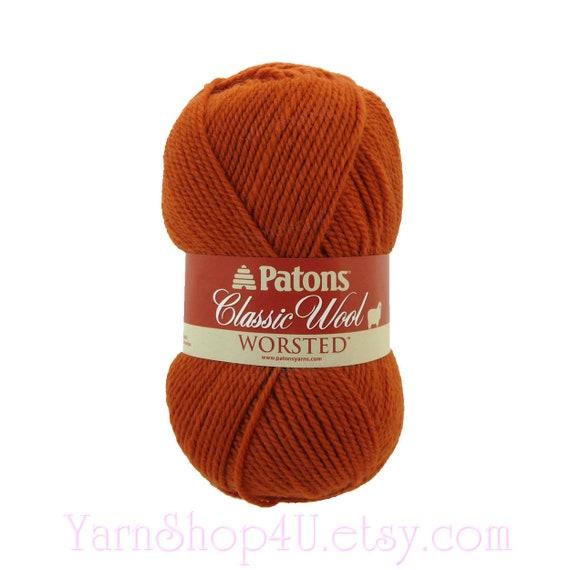 Pumpkin Patons Classic Wool Yarn Pumpkin Wool Felting Yarn Etsy