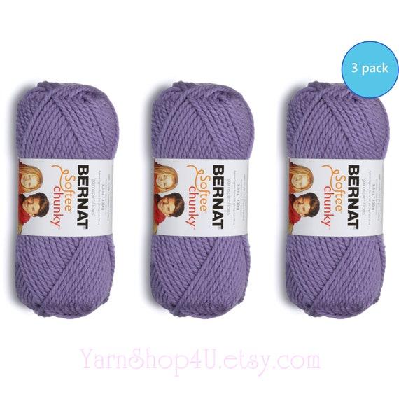3.5 Oz Gauge 6 Super Bulky Bernat Softee Chunky Yarn Lavender