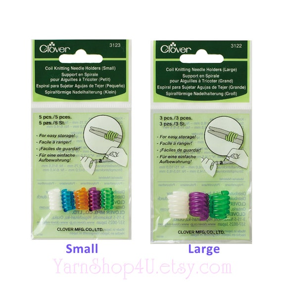 Clover Coil Knitting Needle Holders Select Size