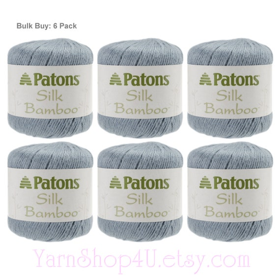 6 Pack of Patons Silk Bamboo Bamboo  silk blend for Excellent drape and shine 6 balls total COAL Bulk Buy Black DK lightweight yarn