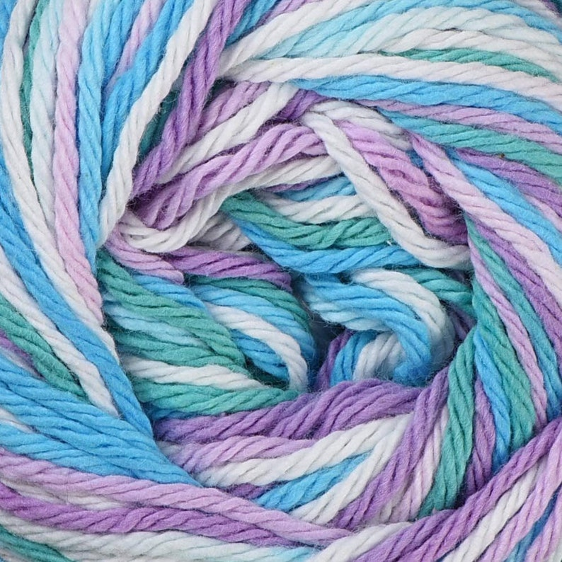 2oz Blue and Purple Ombre with a bit of white BEACH BALL Lily Sugar N/' Cream The Original 2 ounce size 95yd ea