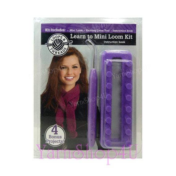 Mini Loom Loops Threads Learn To Mini Loom Kit Learn To Etsy