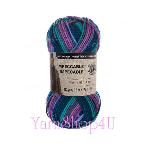 LUXURY Impeccable Yarn, Loops & Threads, yarn, purple teal, Impeccable  Ombre Yarn, knitting yarn, crochet yarn, multi color acrylic yarn >