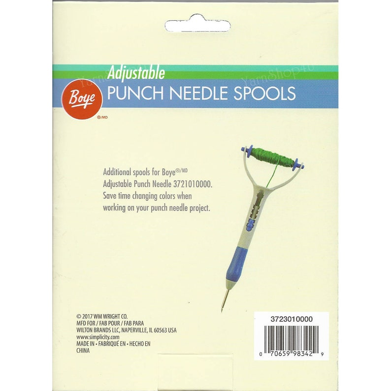 3 Extra Spools for The Boye Adjustable Length Punch Needle Tool  This  package includes 3 spools  Click +More to read more! #S983429