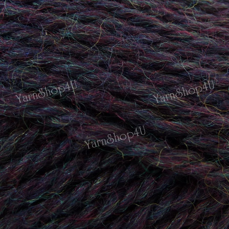 It is dark purple 100g 3.5oz PASSION HEATHER This Dark Purple Wool Yarn is 100/% wool and great for felting Patons Classic Wool Yarn