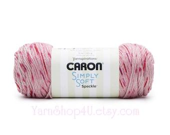 LIPSTICK - Caron Simply Soft Speckle 5oz / 235yds (141g / 215m) 100% Acrylic yarn. Color #61016