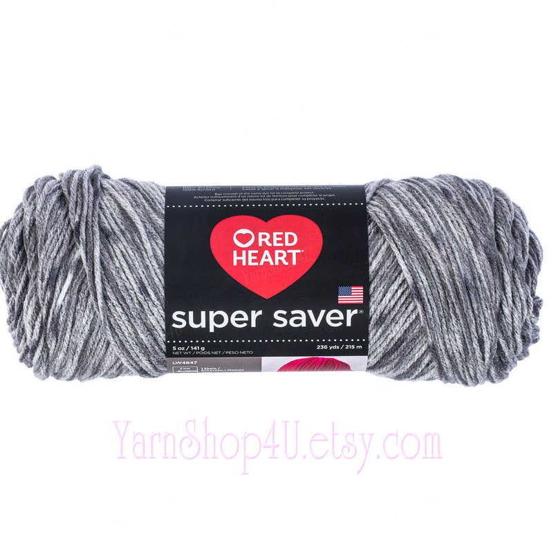 Red Heart Super Saver Yarn E300 4 Ply Worsted 5 Oz Skein Soapstone 3976