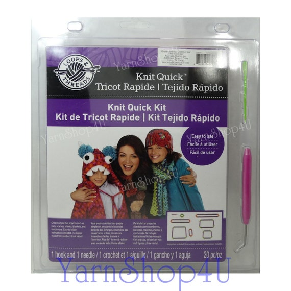 Clearance Sale 20pc Knitting Loom Kit Loops Threads Knit Etsy