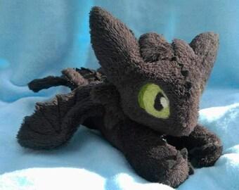 Toothless Dragon Night Fury Floppy Plush