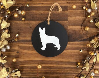 Chalk Board German Shepherd Ornament