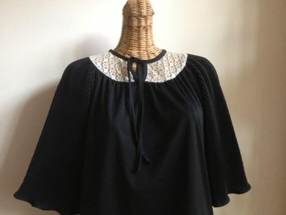Stevie Nicks style 70's nylon belladonna blouse