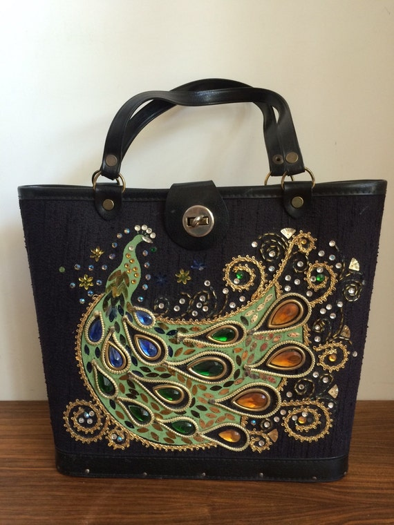 Enid collins style peacock bag