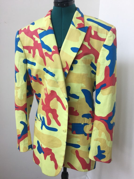 Stephen Sprouse Andy Warhol blazer in camo print