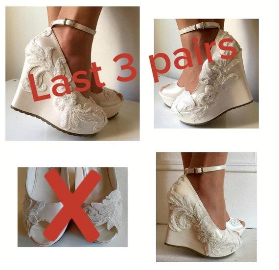 Wedding Wedding Wedge Shoes Bridal