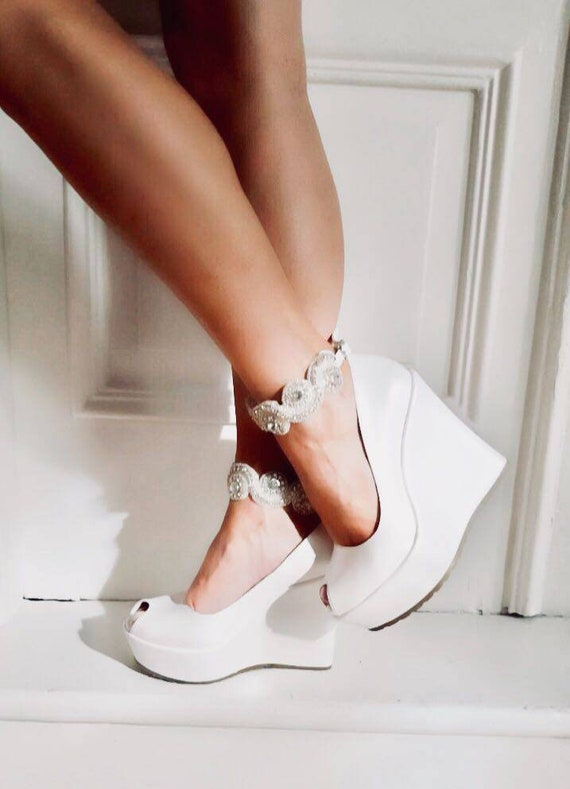 Wedding Wedges Ivory Wedges with