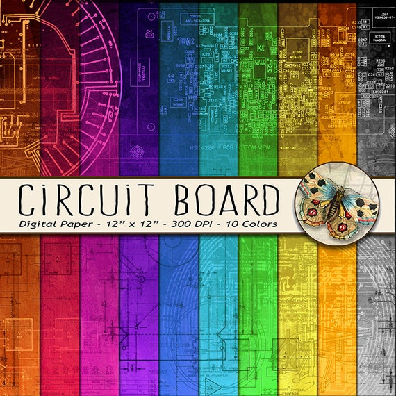 circuit board digital paper schematics digital paper robot