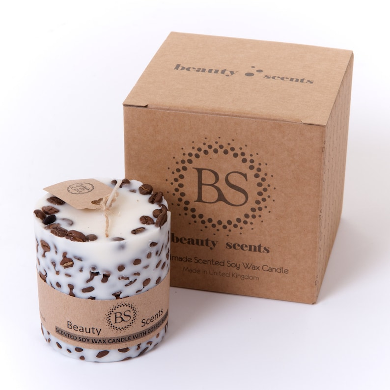 Handmade Scented Natural Candle With Coffee Beans