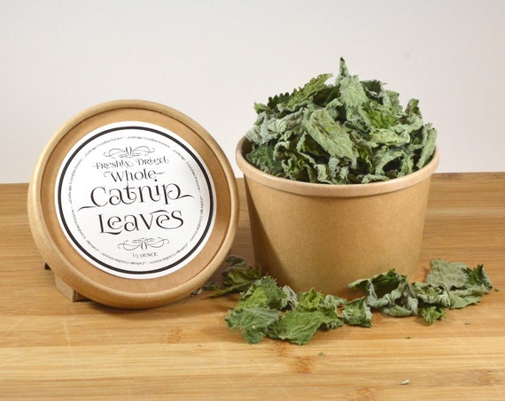 Catnip Confections Whole Catnip Leaves, 1/2 ounce, Freshly Dried, California Grown, No Stems