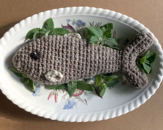 Feast Fish, Extra Large Crochet Wool Cat Toy