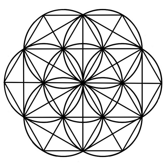 8 5x8 5 seed of life black crystal grid template etsy