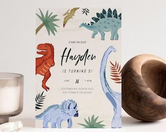 Dinosaur Birthday Invitation, Dinosaur Birthday Invite, jurassic,  trex, dinosaur party, dinosaur birthday, EDITABLE,  INSTANT DOWNLOAD