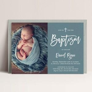 Christening Invitations Baby Boy or Girl Baptism Printable 7x5 DIY