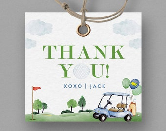 Golf Birthday Favor Tag, Hole in One Favor Tag, Masters Golf Favor Tag, Hole-in-One Party, EDITABLE Favor Tag, INSTANT DOWNLOAD