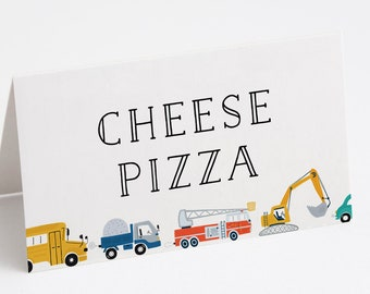 Transportation Food Tents, Truck Food Tents, Car and Truck Party, Truck and Cars Food Tents, INSTANT DOWNLOAD
