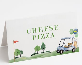 Golf Birthday Food Tents, Hole in One Food Labels, Masters Golf Food Tents, Hole-in-One Party, EDITABLE Food Tent, INSTANT DOWNLOAD