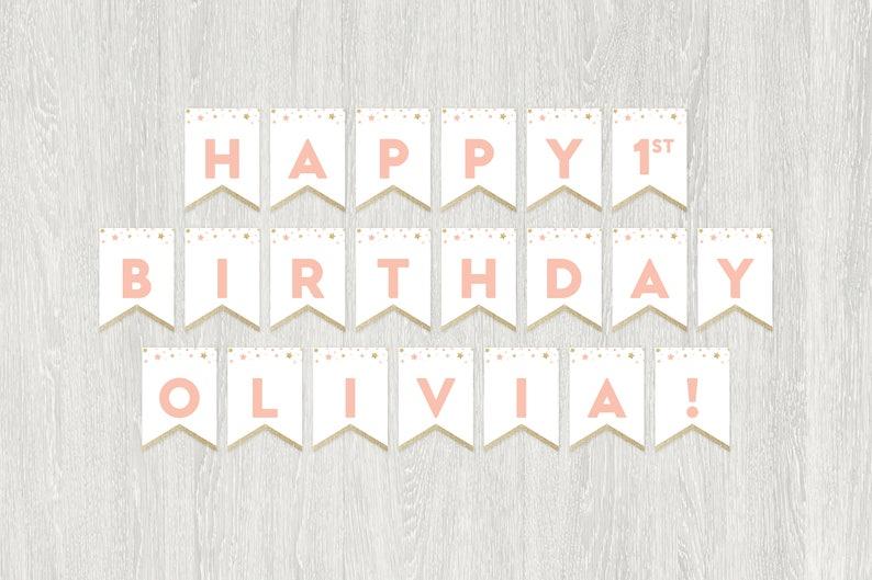 Star Birthday Banner | Twinkle Littler Star Birthday | Printable Birthday  Banner | Customized Digital File