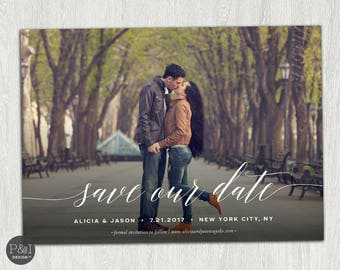 Save the Date Photo Invitation | Save Our Date | Customized Printable (7x5)
