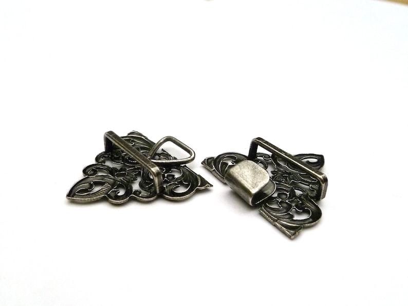 2,36 x 1,3 inch antique silber colored filigree metal Tracht buckle for dirndl apron Closure Bavaria Oktoberfest 6 cm x 3,3 cm