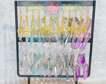 Crystal Pentagram Earrings