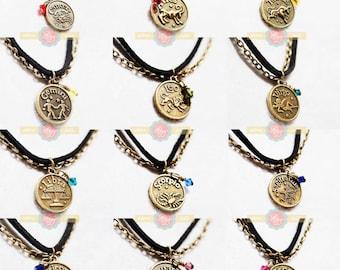 Zodiac/Homestuck fandom inspired Necklaces