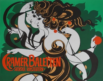 1982 Wiinblad Cramér Baletten - Original Vintage Poster