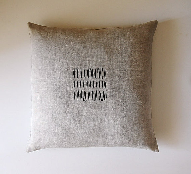 Wabi Sabi Style Pillow Cover For Home Decor In Black And Etsy
