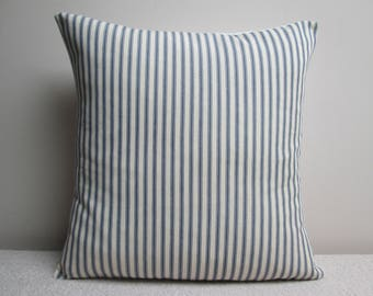 Handmade Shabby Chic French Ticking  Cushion Cover Pillow Cover  16""