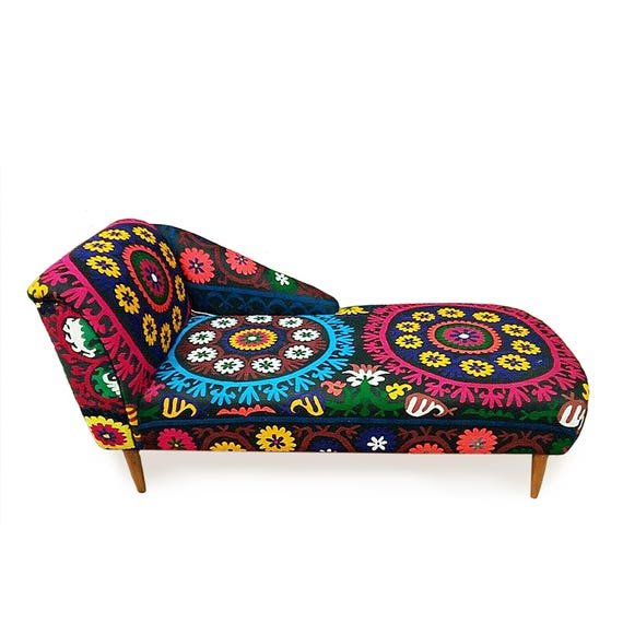 Strange Shamsi Chaise Longe Couch Sofa Ottoman Day Bed Bohemian Style With Suzani Home Decor Boho Chic Gamerscity Chair Design For Home Gamerscityorg