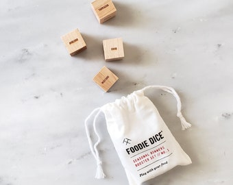 Foodie Dice® Booster set // addition to Seasonal Dinners set // foodie gift, hostess gift, cooking gift, kitchen gift, xmas gift